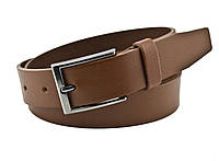 Детский кожаный ремень Real Leather 3 см для брюк коричневый 85-105 см (RL13230) (LM11RL13230)