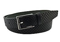 Детский кожаный ремень Real Leather 3 см для брюк черный 85-105 см (RL12130) (LM11RL12130)