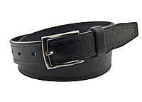 Детский кожаный ремень Real Leather 3 см для брюк черный 85-105 см (RL12230) (LM11RL12230)