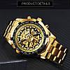 Мужские механические часы Winner Skeleton / Наручные часы, фото 8