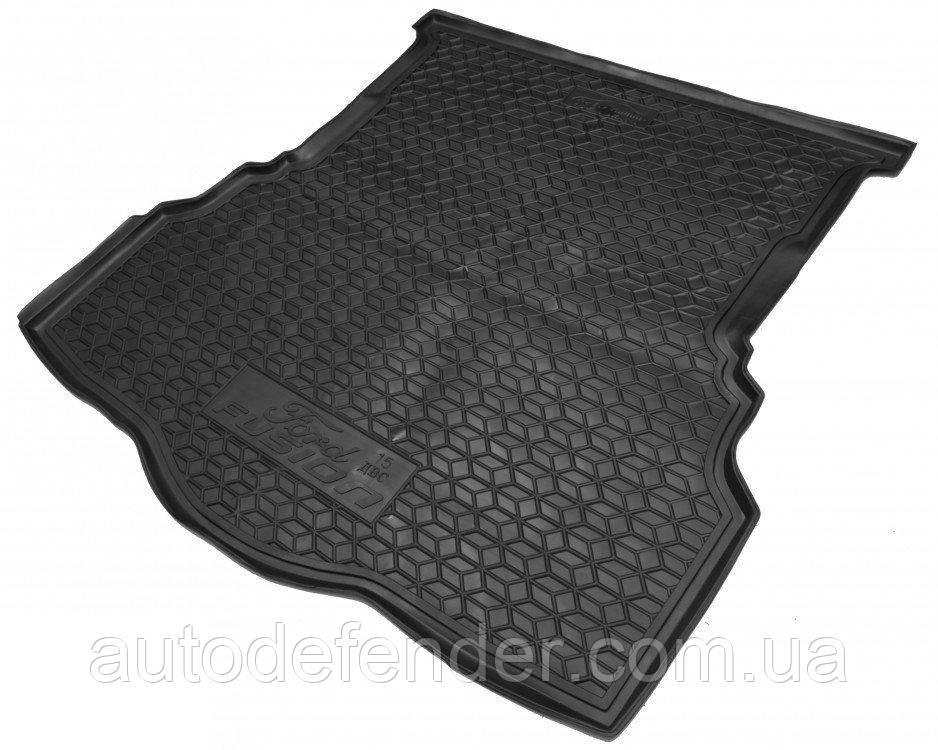Коврик в багажник для Ford Mondeo V 2015-2021 + Fusion II 2012-2021, седан, резиновый (полиуретановый)