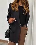 Женские брюки, костюмка, р-р С-М; М-Л (шоколадный), фото 2
