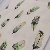 Фланелевая (байковая) детская пеленка 120х120 перышки