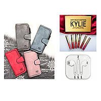 Клатч Waellerry Forever цвет на выбор подарок Набор жидких матовых помад Kylie и Наушники EarPods SKL11-279594