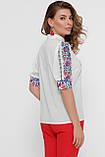 GLEM Цветы вышивка блуза Лисанна к/р, фото 4