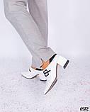 Элегантные туфли с пряжкой белые, фото 3
