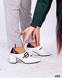Элегантные туфли с пряжкой белые, фото 4