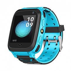 Детские умные часы Smart Watch F3 (GPS + родительский контроль) (Голубые)
