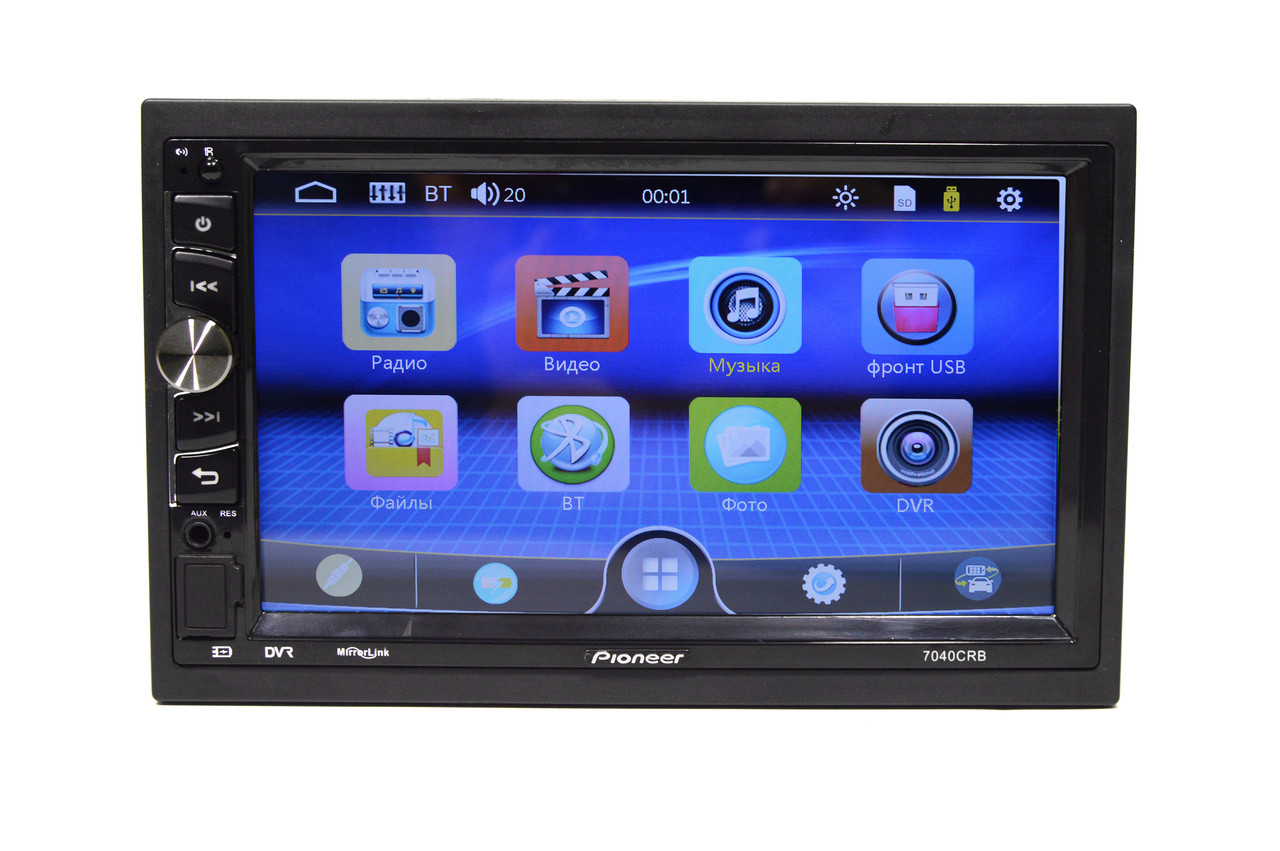 Автомагнитола 2Din Pioneer 7040 1026x600px, USB,SD, Video + ПОДАРОК!