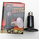 Инфракрасная керамическая лампа излучатель для обогрева животных  и пресмыкающихся. Мощность: 75Вт, фото 5