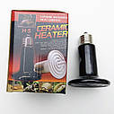 Инфракрасная керамическая лампа излучатель для обогрева животных  и пресмыкающихся. Мощность: 75Вт, фото 6