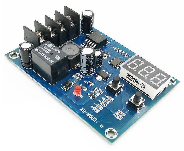 Программируемый контроллер управления зарядом аккумулятора XH-M603 для аккумуляторов 12-24 В