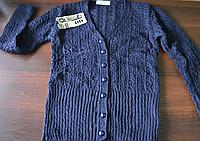 Ажурная вязанная кофта для девочки