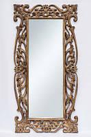 Зеркало в деревянной раме настененное BST 530068 180*90 см коричневое Толедо
