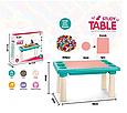 Развивающий столик с конструктором Игры с лего, песком 300 деталей, фото 2