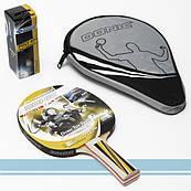 Ракетка для настільного тенісу (пінг понгу) + 3 м'ячі + чохол ⭐⭐⭐⭐⭐