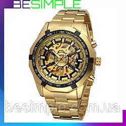 Стильний механічний годинник Winner Skeleton / Чоловічі годинники