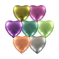 Фольгированные шары 18' Китай сердца ассорти, 44 см