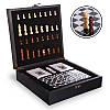 """Шахматы, домино, карты 3 в 1 набор настольных игр деревянный в стиле """"Стаунтон"""", фото 2"""