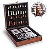 """Шахматы, домино, карты 3 в 1 набор настольных игр деревянный в стиле """"Стаунтон"""", фото 3"""