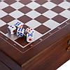 """Шахматы, домино, карты 3 в 1 набор настольных игр деревянный в стиле """"Стаунтон"""", фото 9"""