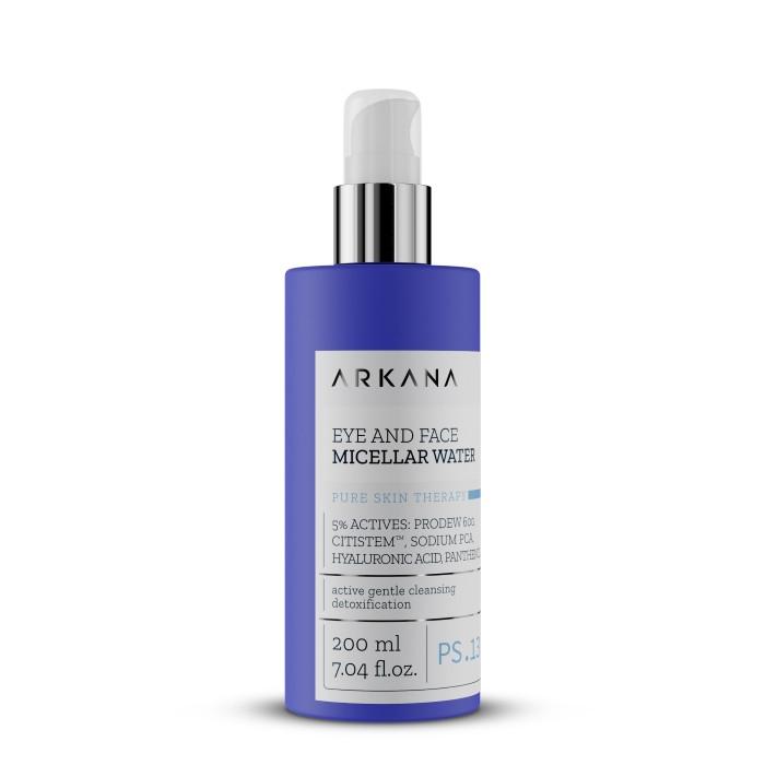 Міцелярна вода для зняття макіяжу з обличчя та очей Аркана Eye + Face Micellar Water. Arkana 200 мл