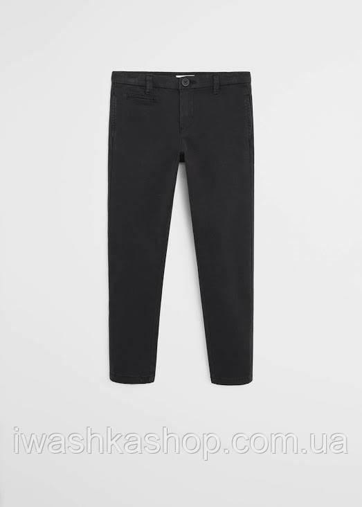 Брендовые черные брюки чинос на мальчика 11 - 12 лет, р. 152, Mango