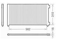 Радиатор кондиционера Fiat Doblo 1.4i 8v / 1.6i 16v после 2005 года