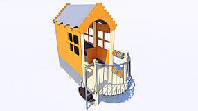 Домик-беседка с балконом