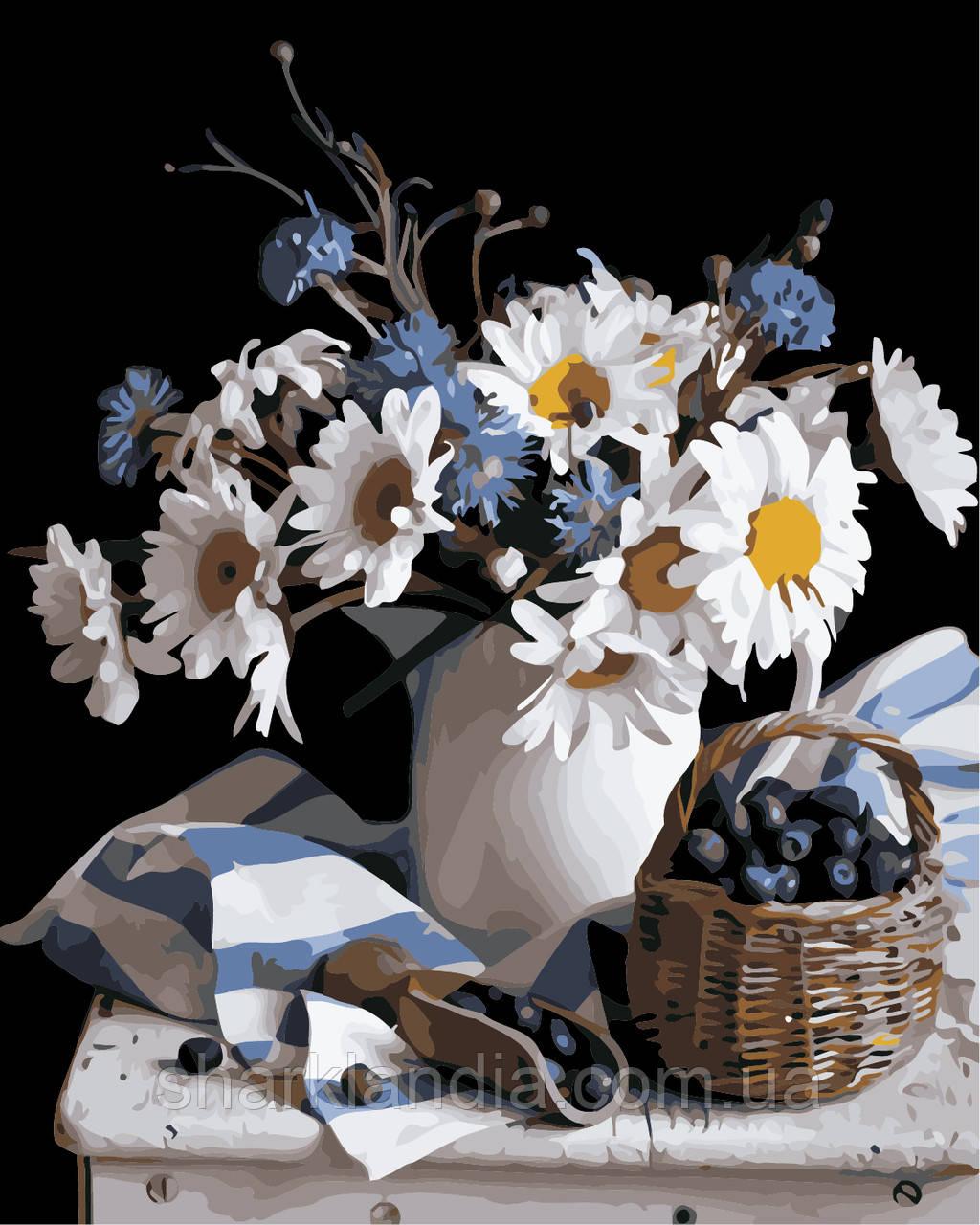 "Картина за номерами ""Натюрморт з квітами"" 40*50см"