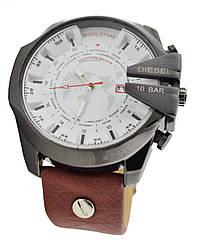 Мужские часы 10 Bar DZ-4188 коричневый-белый