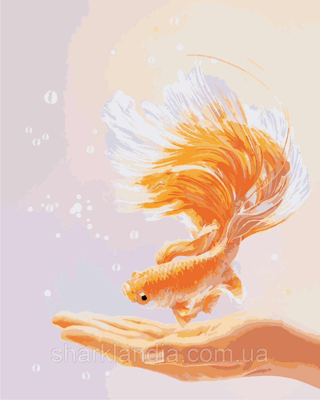 """Картина за номерами """"Золота рибка"""" 40*50см"""