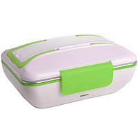 Ланч-бокс электрический с подогревом от сети 220 Вт Electronic Lunchbox 3266, зеленый, контейнер для еды