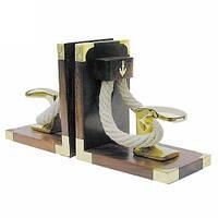 Подставка-букенд для книг Причал морской 550193 31х10х16 см. деревянная