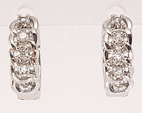 "Серьги M&L колечки ""Цепочка с кристаллами"", фото 1"