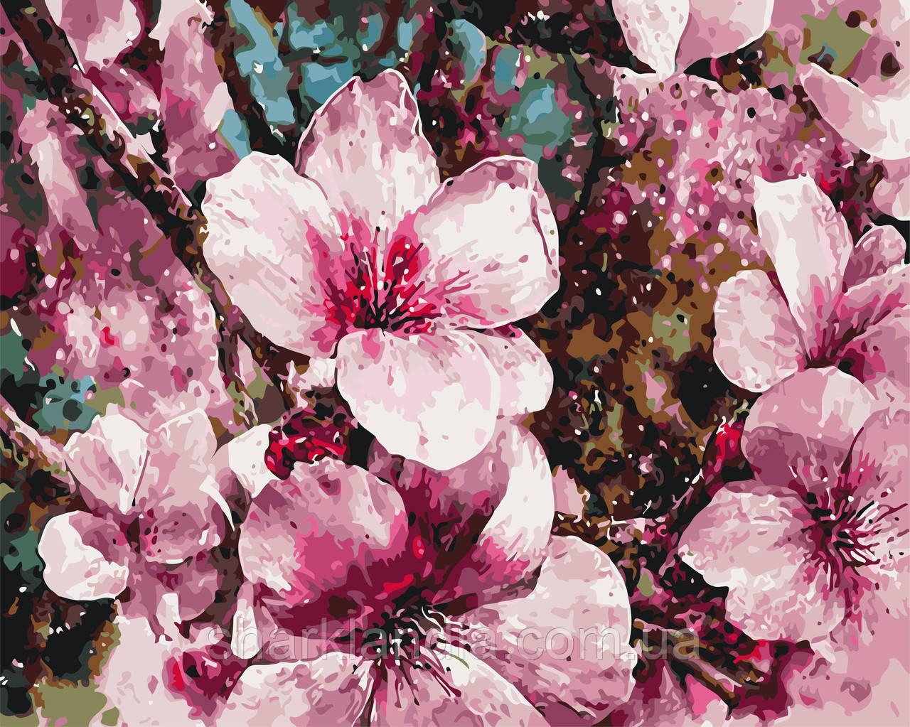 """Картина по номерам """"Цветение сакуры"""" 40*50см"""