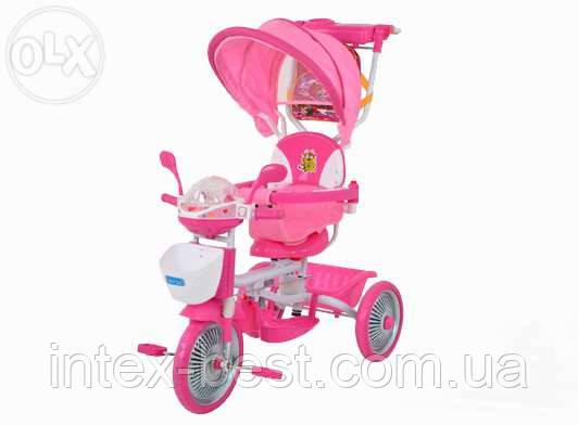 Детский велосипед трехколесный ET A18-10-1P (Розовый)