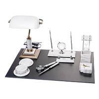 Элитный настольный набор для руководителя из белого мрамора на 11 предметов BST 540205