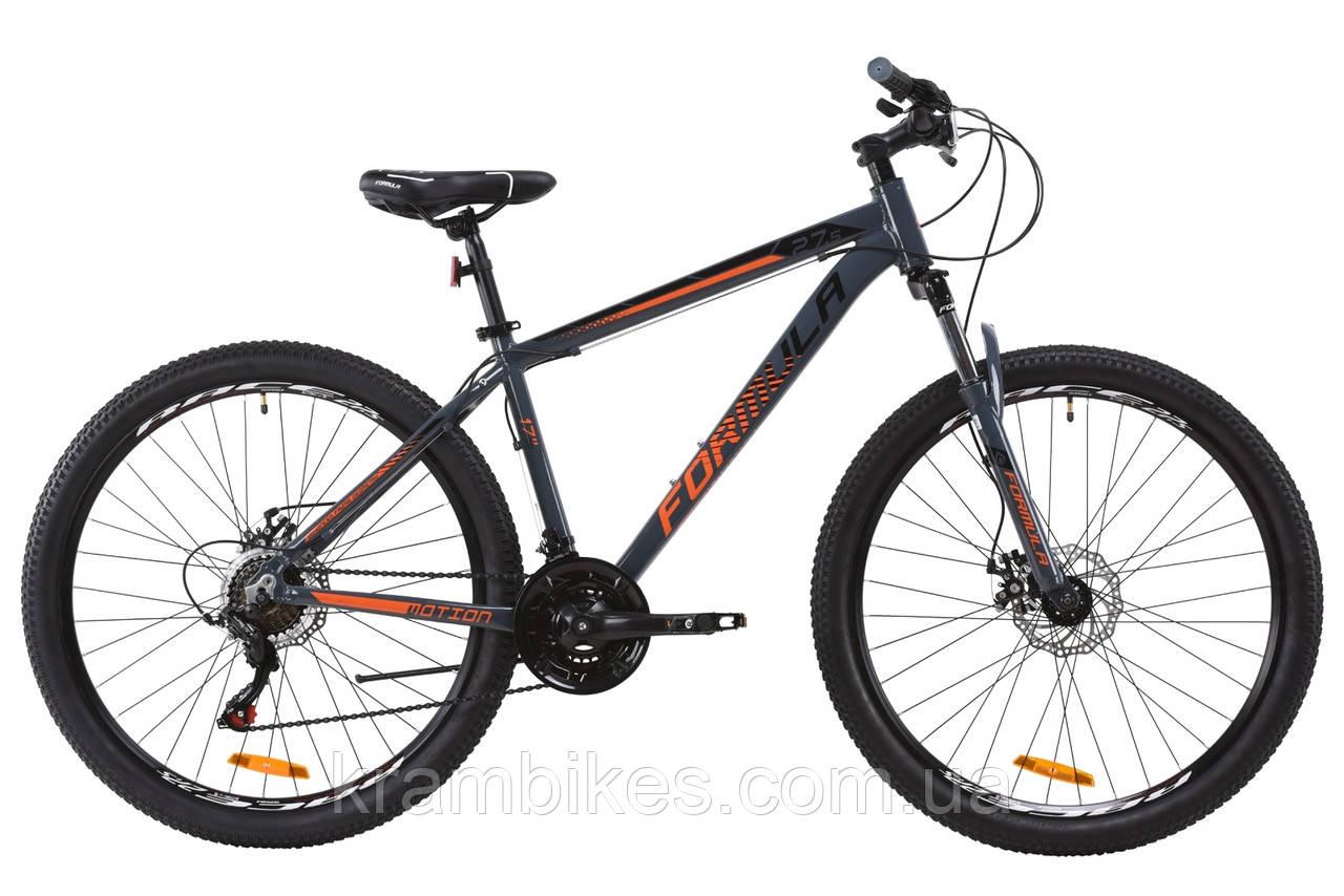 """Велосипед Formula - Motion 14G DD (2020) (27.5""""-19"""") Серый/Коралловый"""