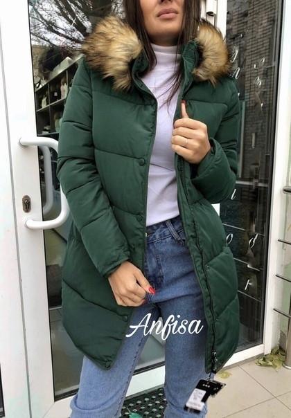 Дутая зимняя женская куртка
