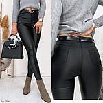 Женские брюки диско кожа на флисе, фото 2