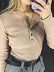 Бежевый женский бодик, фото 5