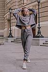 Женский брючный замшевый костюм, фото 6