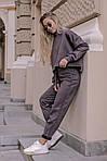 Женский брючный замшевый костюм, фото 7