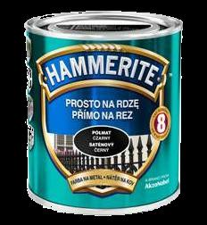 Hammerite с Полуматовым эффектом, Черная 0.75 л