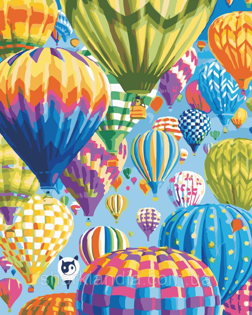 """Картина по номерам """"Цветные воздушные шары"""" 40*50см"""