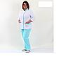 Костюм медичний Avrora блакитного кольору, розмір 46 - 56, фото 2