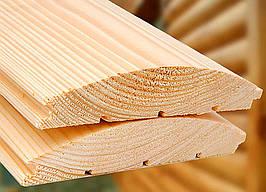 Блок-хаус (сосна) 1-сорт длина 4мширина 135ммтолщина 35 мм есть видеообзор