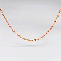 "Цепочка ""Сингапур"" SONATA из медицинского золота, позолота РО, 31408             (50 см)"