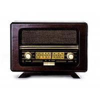 Ретро проигрыватель радио 29,2х14,5х19,6 см. орех BST 410855